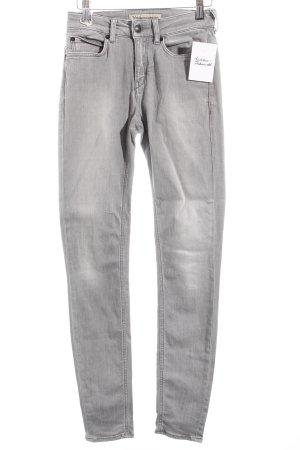 Drykorn Skinny Jeans hellgrau schlichter Stil