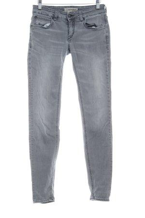 Drykorn Skinny Jeans hellgrau Washed-Optik