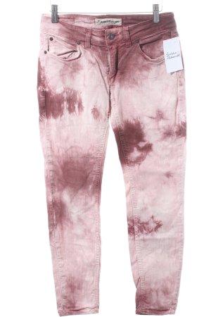 Drykorn Skinny Jeans purpur-rosé Batikmuster Casual-Look