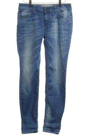 Drykorn Skinny Jeans stahlblau meliert Casual-Look