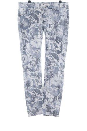 Drykorn Slim Jeans hellgrau Blumenmuster Casual-Look