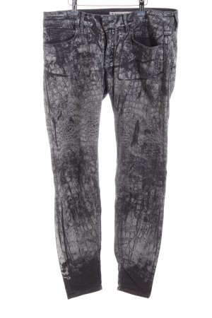 Drykorn Slim Jeans black abstract pattern extravagant style