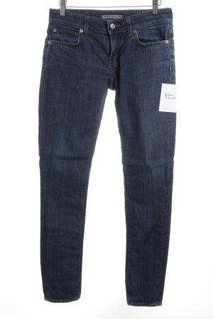 Drykorn Slim Jeans dunkelblau-ocker Casual-Look
