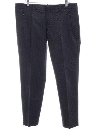 Drykorn Stoffen broek zwart geruite print zakelijke stijl