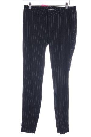 Drykorn Stoffhose schwarz-weiß Streifenmuster Business-Look