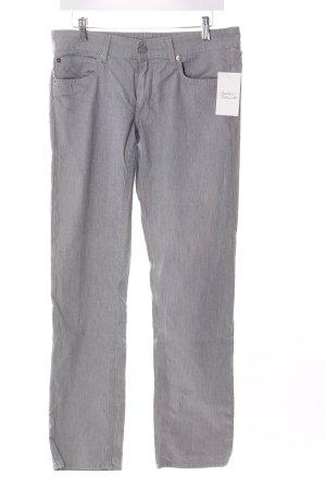 Drykorn Stretch Jeans hellgrau Nadelstreifen Casual-Look