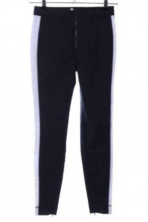 Drykorn Stretchhose schwarz-weiß Casual-Look