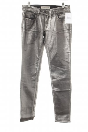 Drykorn Stretch Trousers silver-colored elegant