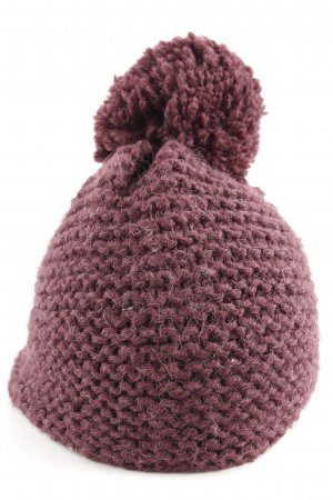 Drykorn Knitted Hat grey lilac-brown violet cable stitch casual look