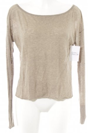 Drykorn Strickpullover camel meliert Casual-Look