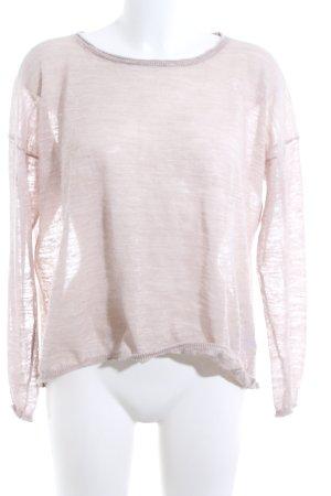 Drykorn Strickpullover pink meliert Casual-Look