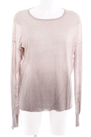 Drykorn Camisa tejida marrón claro degradado de color look casual