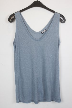 Drykorn Knitted Top azure-silver-colored viscose