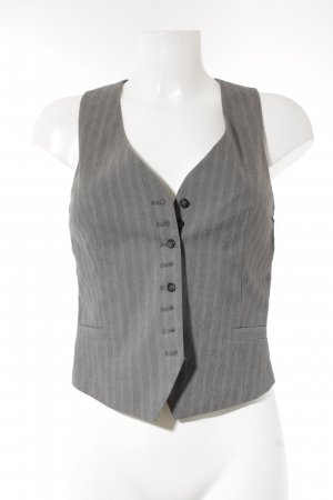 Drykorn Strickweste grau Streifenmuster Business-Look