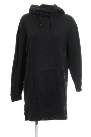 Drykorn Sweatkleid schwarz-weiß Schriftzug gedruckt sportlicher Stil