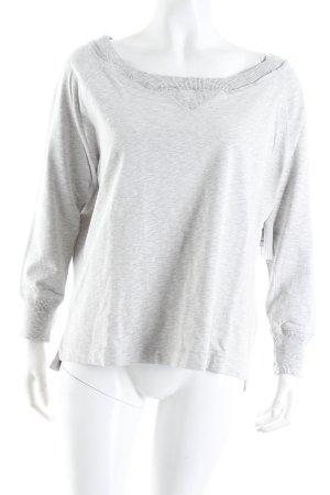 Drykorn Sweatshirt hellgrau meliert Casual-Look