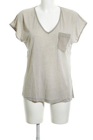 Drykorn T-Shirt hellgrau Casual-Look