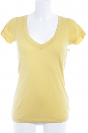 Drykorn T-Shirt dunkelgelb Casual-Look