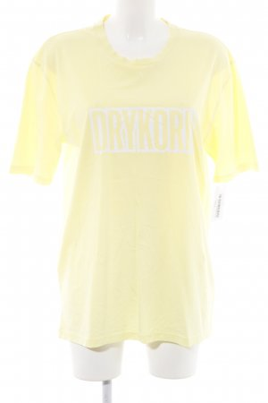 Drykorn T-Shirt blassgelb-weiß Casual-Look