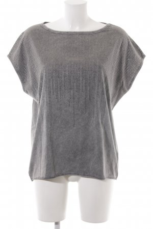 Drykorn T-Shirt grau meliert Metallic-Optik
