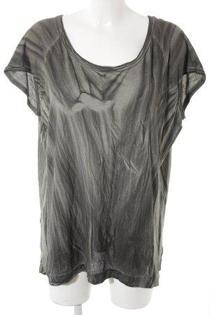 Drykorn T-Shirt khaki-dunkelgrün Batikmuster Casual-Look