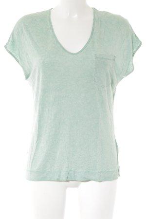 Drykorn T-Shirt mint-hellgrün Batikmuster Casual-Look