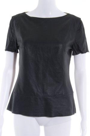 Drykorn T-shirt zwart Biker-look