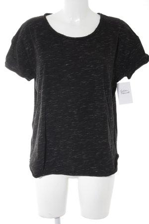 Drykorn T-Shirt schwarz-wollweiß meliert Casual-Look