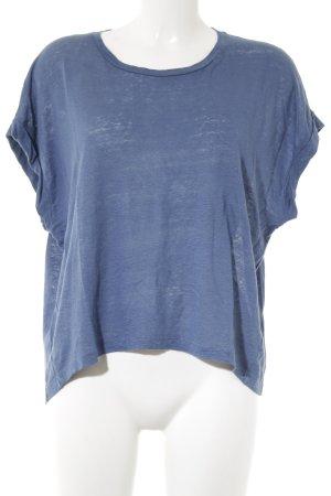 Drykorn T-shirt staalblauw casual uitstraling