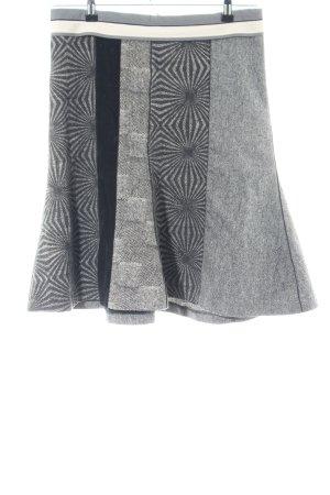 Drykorn Tellerrock hellgrau-schwarz grafisches Muster Casual-Look