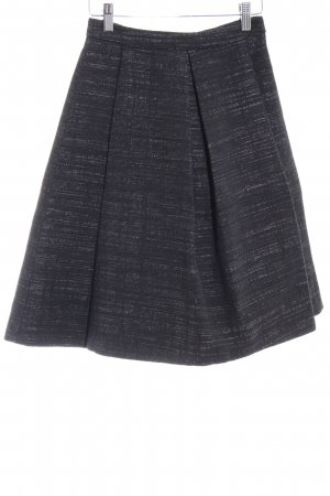 Drykorn Circle Skirt black-dark grey weave pattern business style