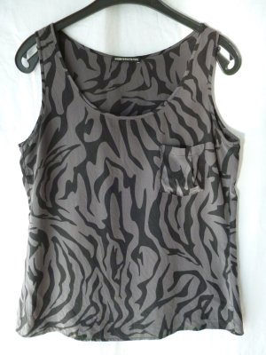 Drykorn Top aus Seide mit Animalprint