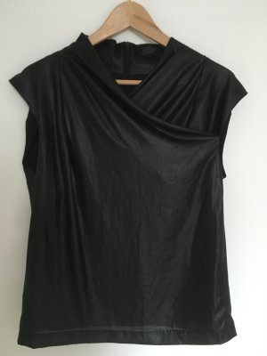 Drykorn Top in Lederoptik in schwarz in Größe 3 (36)