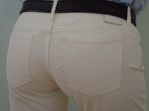 DRYKORN ★ Top weiß Jeans-Hose ★ W27 L32 36 S 5Pocket Baumwolle/Elasthan