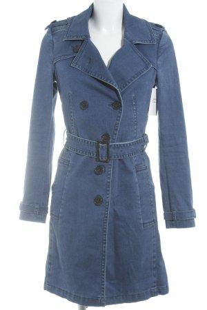 Drykorn Trenchcoat blau Jeans-Optik