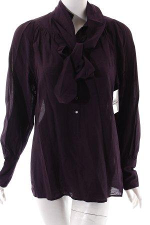 Drykorn Tunikabluse dunkelviolett klassischer Stil