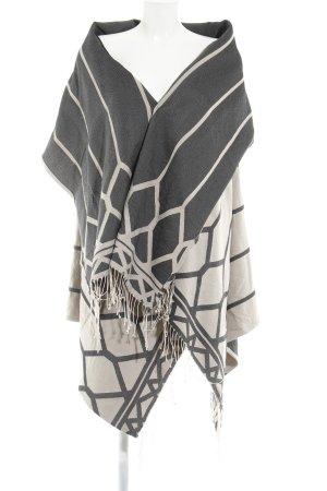 Drykorn Übergangsjacke beige-dunkelgrau abstraktes Muster extravaganter Stil