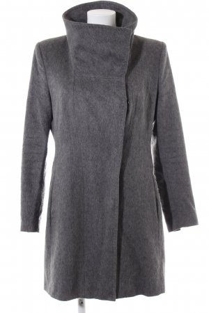 Drykorn Between-Seasons-Coat light grey flecked business style