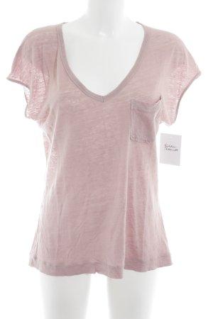 Drykorn V-Ausschnitt-Shirt altrosa Casual-Look