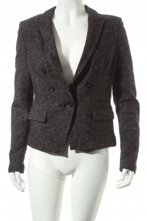 Drykorn Wool Blazer sand brown-black striped pattern business style