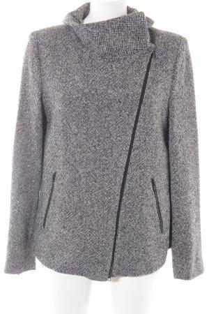 Drykorn Giacca di lana nero-bianco puntinato stile da moda di strada