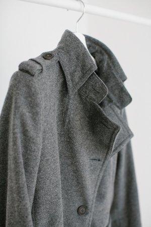 Drykorn Abrigo de lana gris Lana
