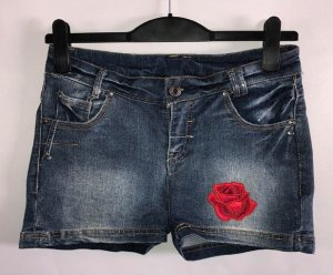 DSQ Jeans Hot Pants in gr 38 Strass Rose Farbe Dunkelblau
