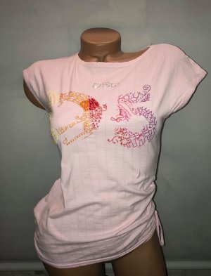 DSQ T-Shirt Bluse in gr 38 Farbe Rosa Strass
