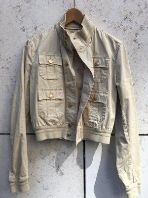 DSquared Baumwoll Biker Jacke/Blouson , beige, slim cut
