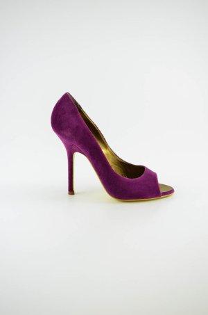 Dsquared2 Escarpins à bout ouvert violet-jaune foncé
