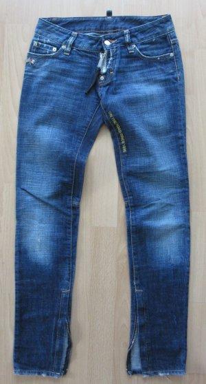 DSQUARED Jeans Gr. 34 blau Used-Look LOGO