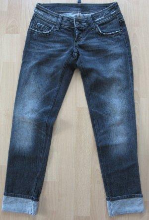 Dsquared Jeans Gr. 34 grau/schwarz Logo