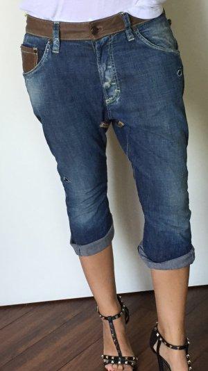 Dsquared Jeans Gr 36 blau mit Lederdetails