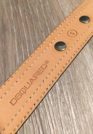 Dsquared2 Studded Belt black-gold-colored leather